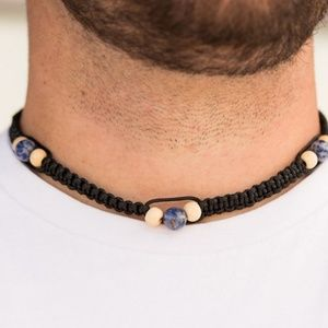 Vitality Blue Stones Knotted Urban Necklace